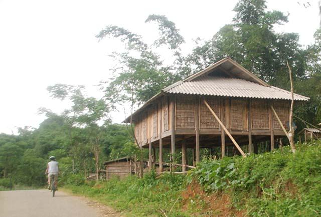 Vietnam Noord Centraal steltenhuis