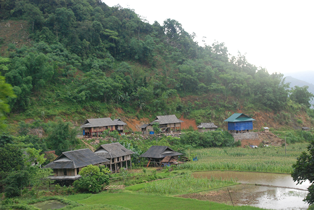 Vietnam Mekong Bergdorp