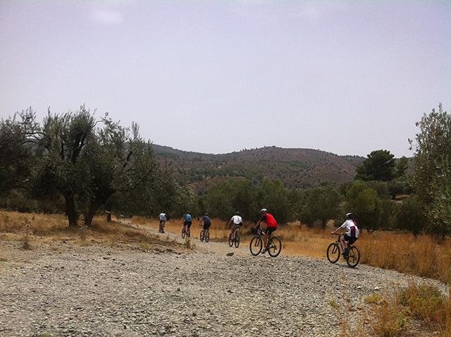 Rhodos MB Bikers op vlakte