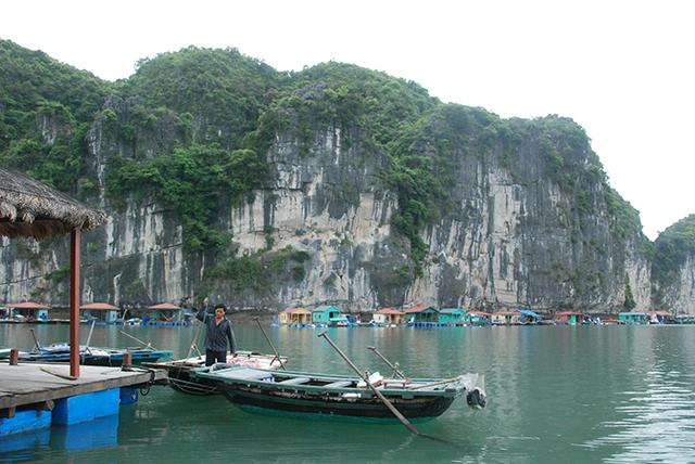 Vietnam Boot voor rots